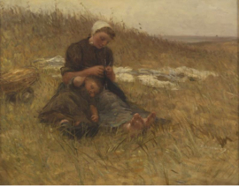 Blommers, Breiende vissersvrouw met slapend kind