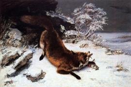 Courbet, Vos in de sneeuw