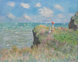 Monet, Klifwandeling in Pourville