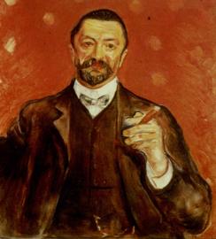 Munch, Portret van Felix Averbach