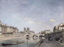 Jongkind, De Seine en de Notre Dame in Parijs