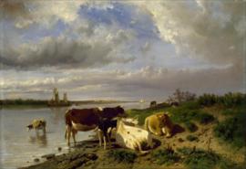 Mauve, Landschap met koeien