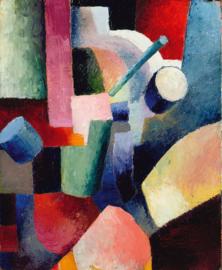 Macke, Kleurrijke compositie van vormen