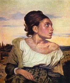 Delacroix, Weesmeisje op de begraafplaats