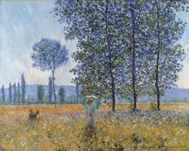 Monet, Zonlicht onder de populieren