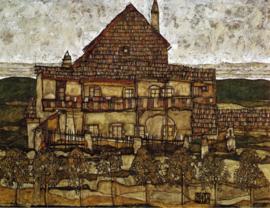 Schiele, Huis met dakspanen