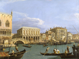 Canaletto, Gezicht van de Riva degli Schiavoni, Venetië