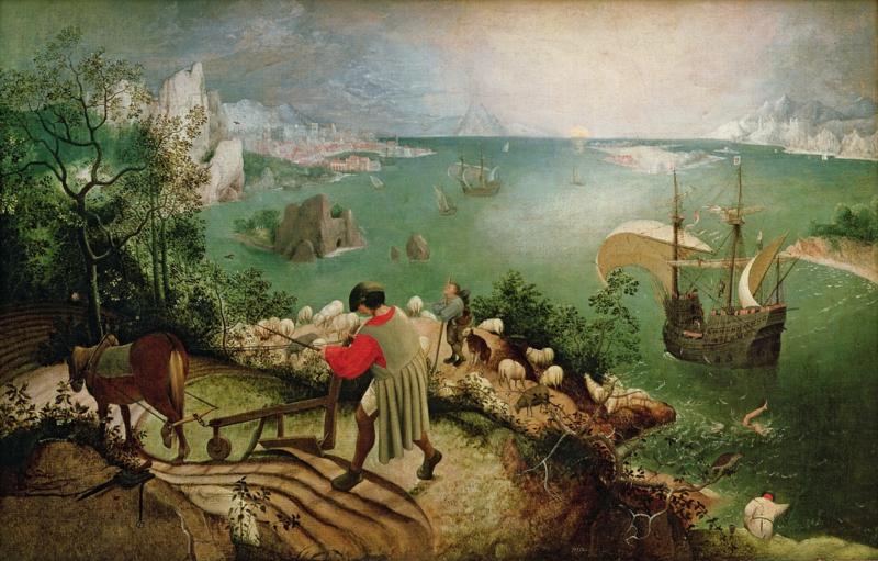 Bruegel, De val van Icarus