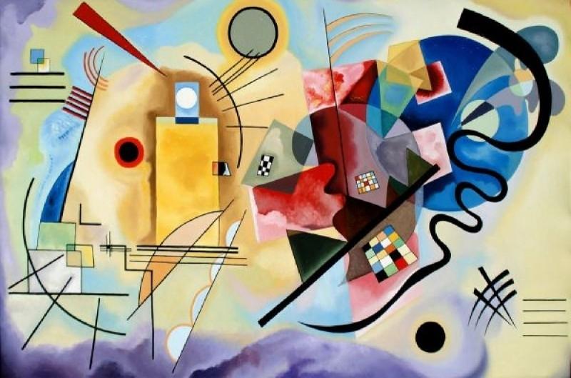 Kandinsky, Geel rood blauw