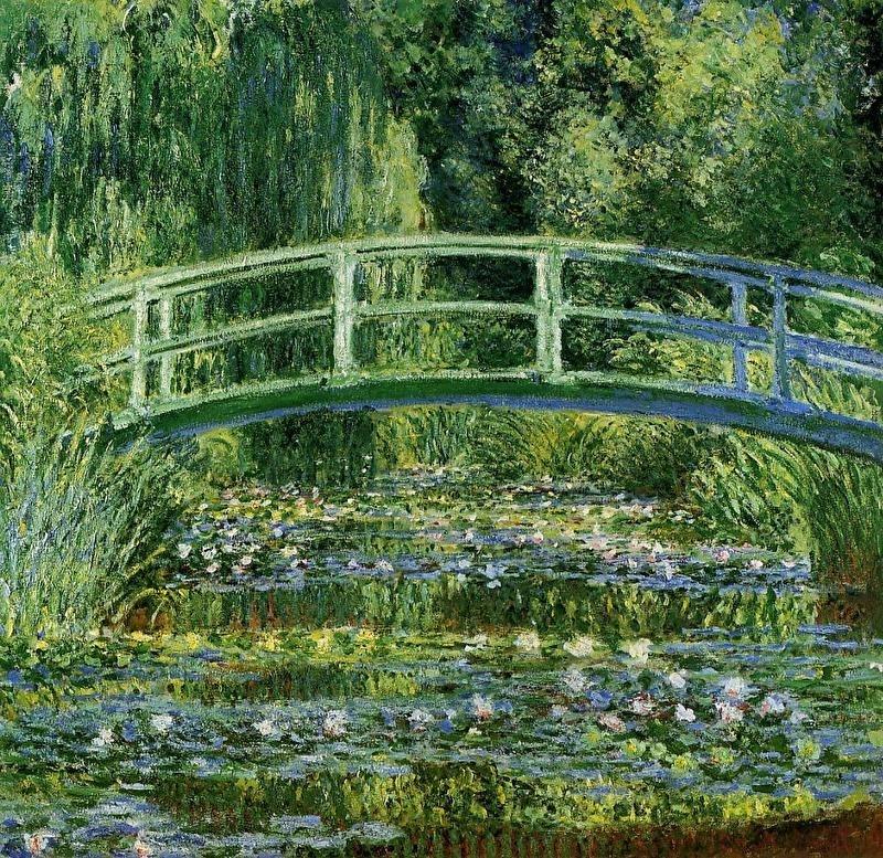 Monet, Waterlelievijver met Japanse brug