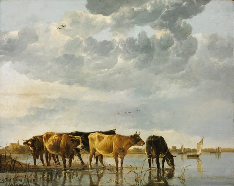 Cuyp, Koeien aan een rivier