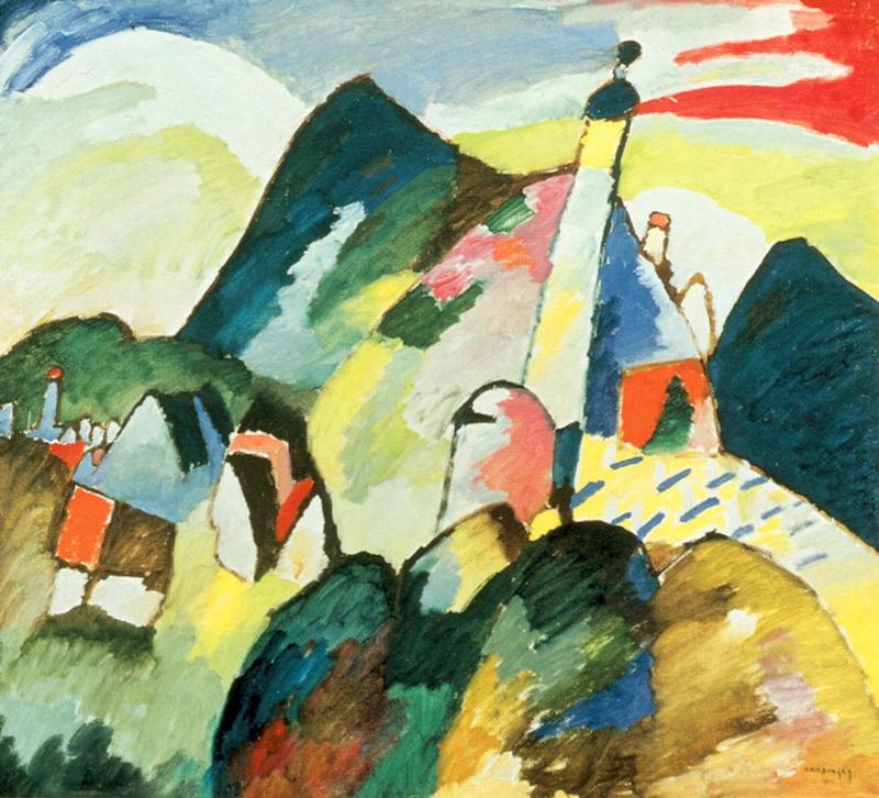 Kandinsky, Zicht op Murnau met kerk