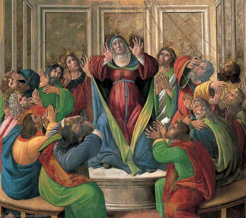 Botticelli, Ontvangenis van de Heilige Geest