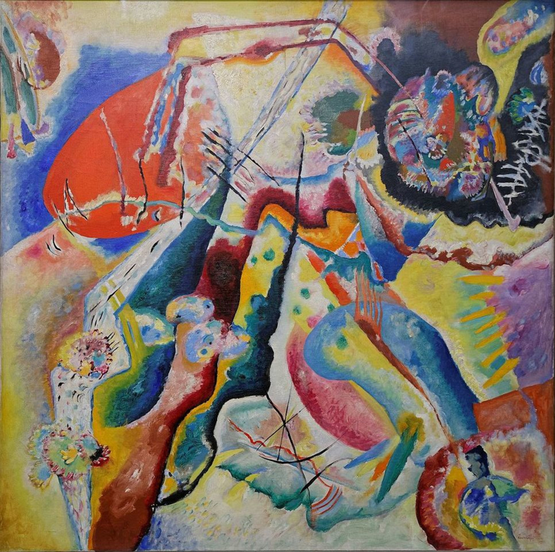 Kandinsky, Beeld met rode plek