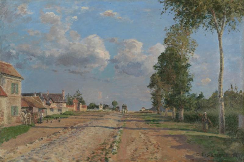 Pissarro, De weg naar Versailles, Rocquencourt