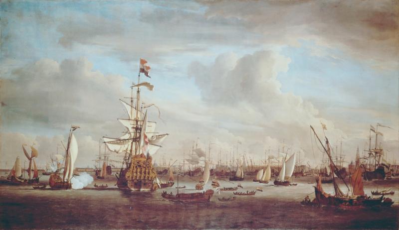 Van de Velde, De Gouden Leeuw op het IJ van Amsterdam