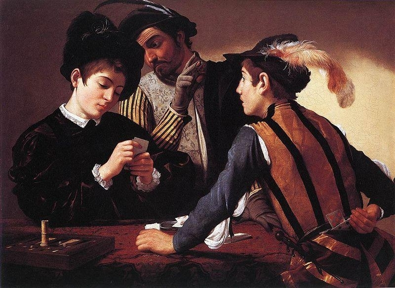 Caravaggio, De valsspelers