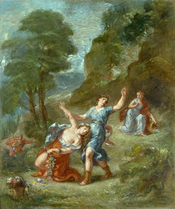 Delacroix, De lente, Eurydice door een slang gebeten
