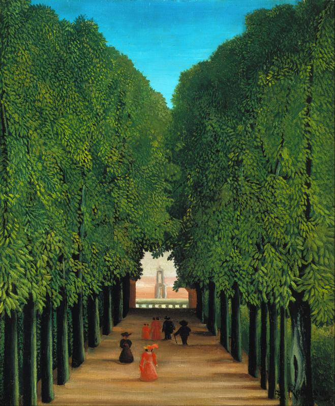 Rousseau, De laan in het park van Saint Cloud | Rousseau | Budgetschilderij