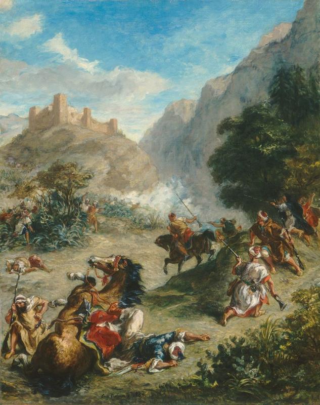 Delacroix, Schermutseling in de heuvels