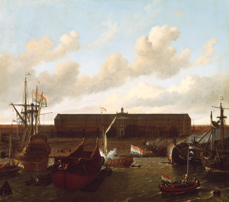 Bakhuysen, Het dok van de Oost-Indische Compagnie te Amsterdam