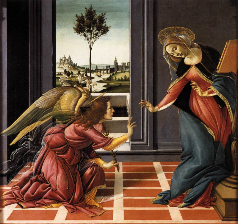 Botticelli, Cestella Annunciatie