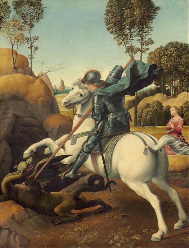 Rafaël, St. Joris vecht met de draak