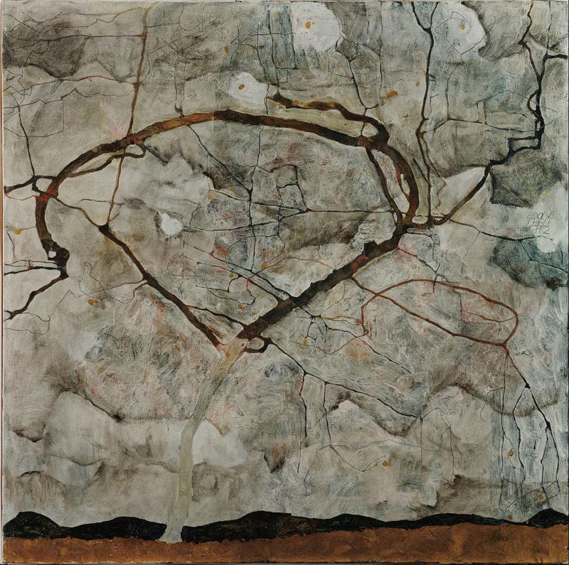 Schiele, Winterboom