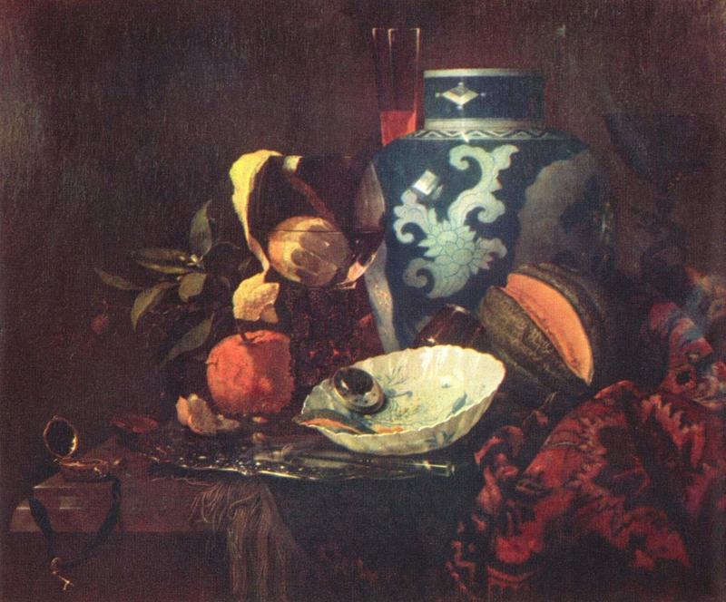 Kalf, Stilleven met een vaas