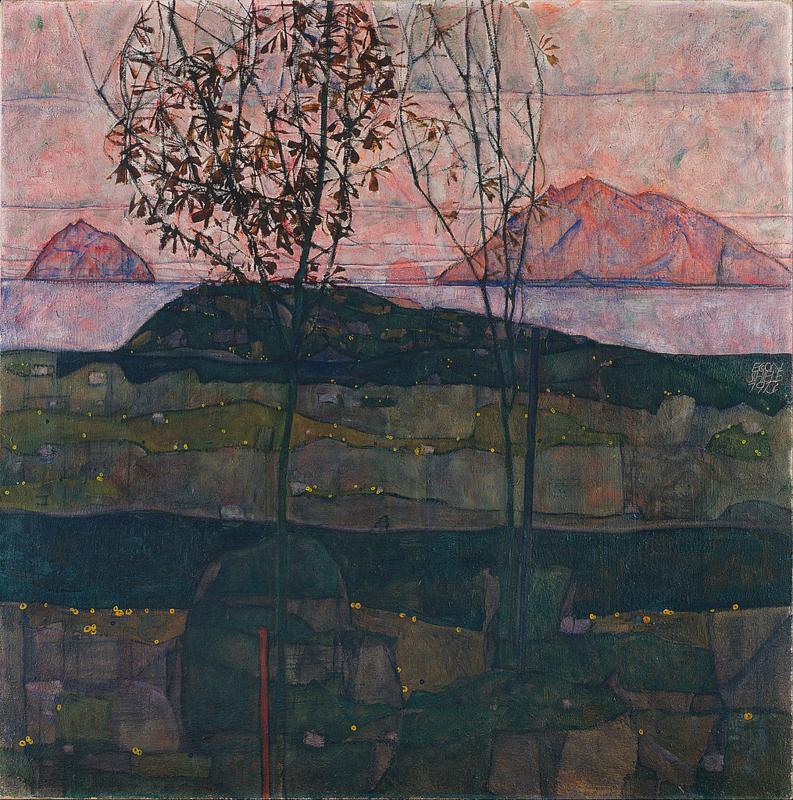Schiele, Ondergaande zon