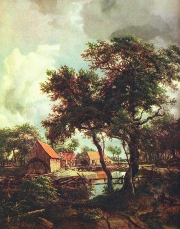 Hobbema, Landschap met molen