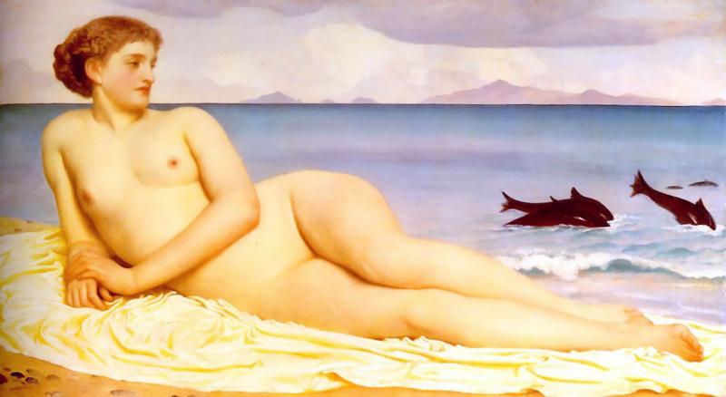 Leighton, Actaea met dolfijnen