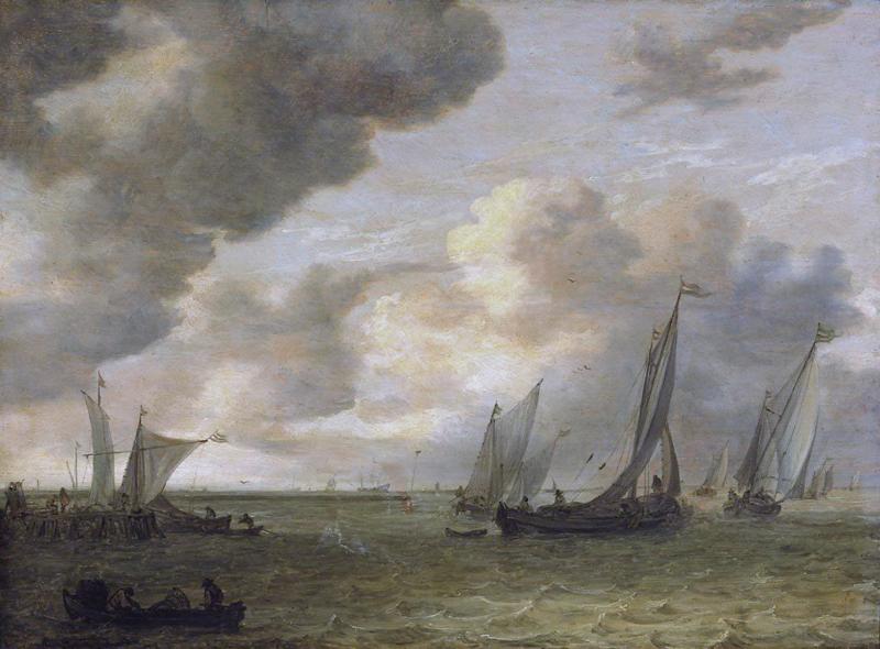 Van Goyen, Riviermonding met zeilboten