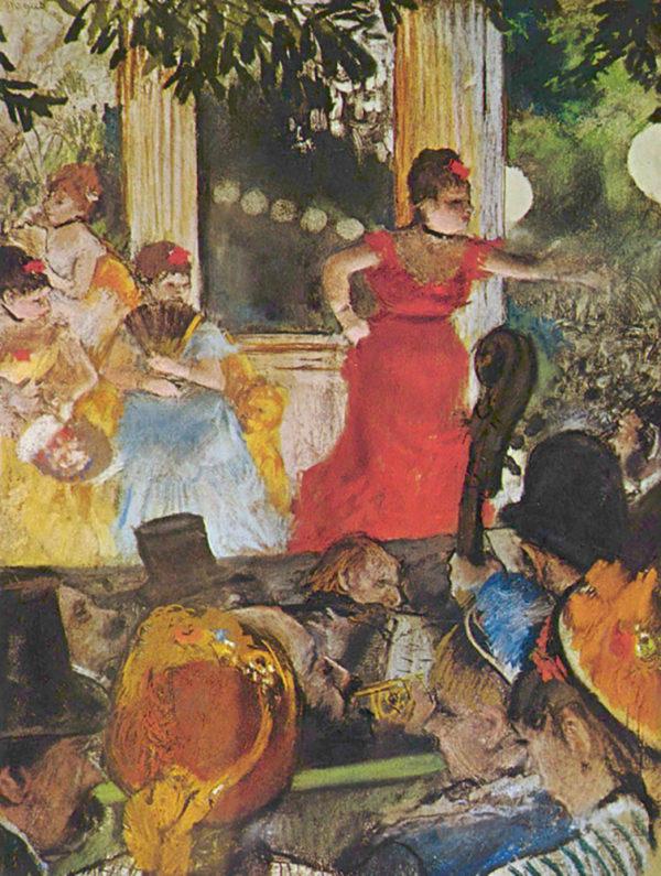 Degas, In het concertcafé (de ambassadeurs)