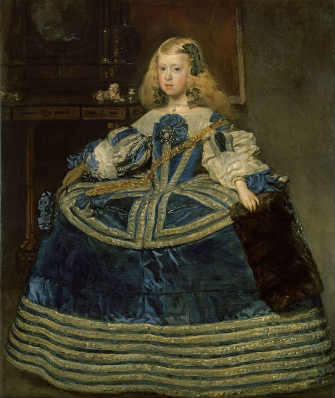 Velázquez, Margaretha Theresia als kind in een blauwe jurk
