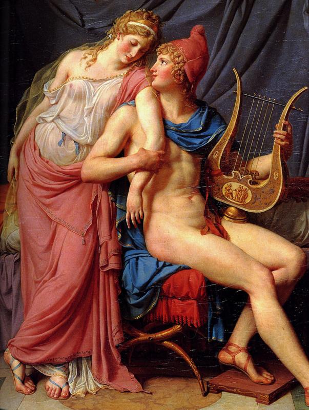 David, De liefde van Paris en Helena