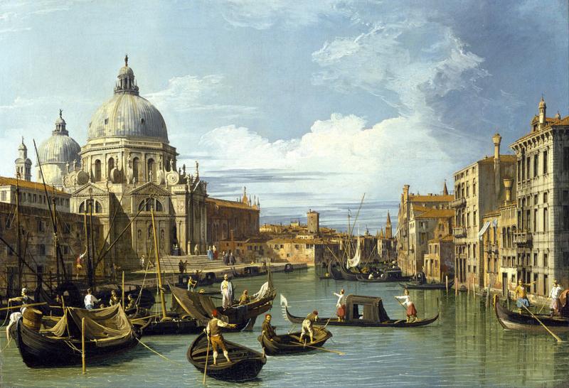 Canaletto, De ingang van het Canal Grande