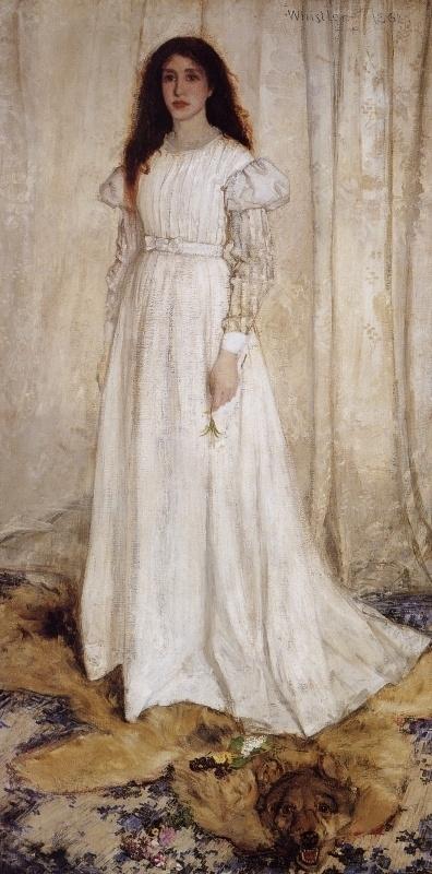 Whistler, Symphonie in wit 1 (het witte meisje)