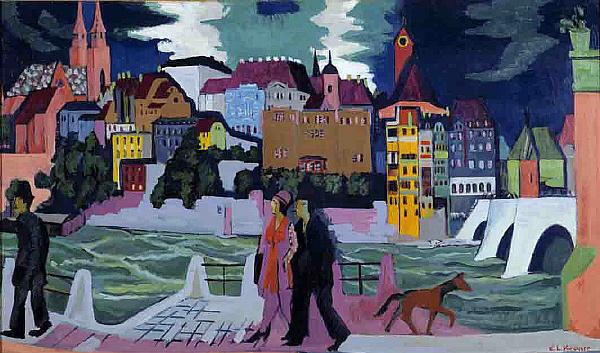 Kirchner, Zicht op Bazel en de Rijn