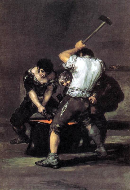 Goya, De smidse