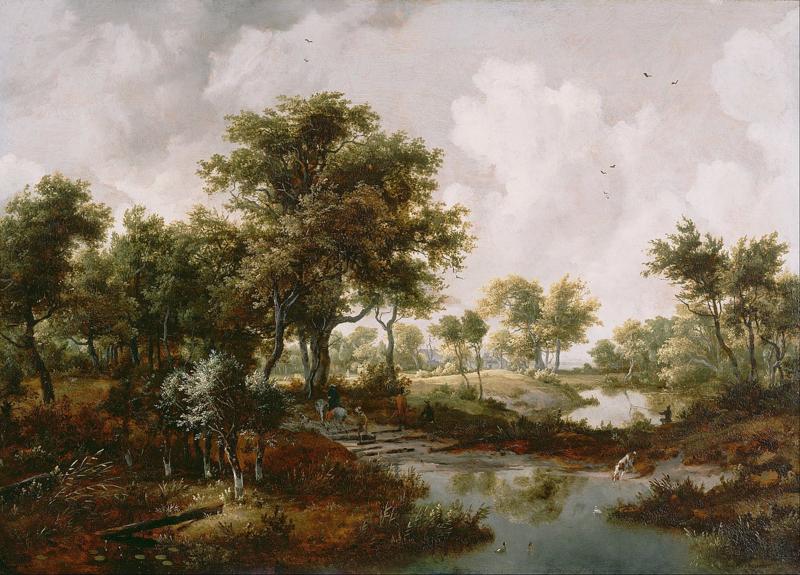 Hobbema, Een boslandschap