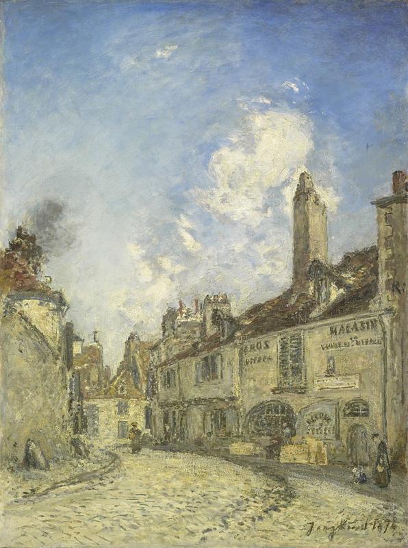 Jongkind, Straat in Nevers