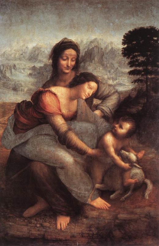 Da Vinci, De maagd en kind met de heilige Anna