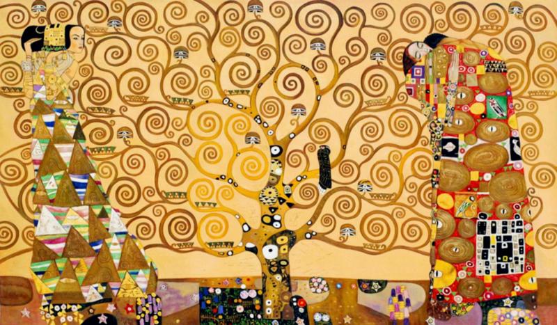 Klimt, De verwachting, de levensboom, de vervulling (Stoclet fries)