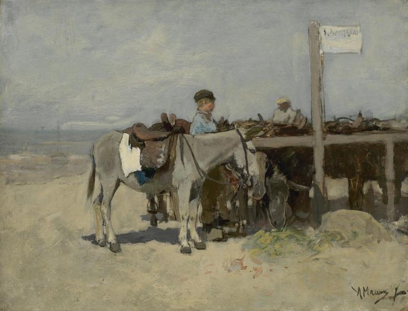 Mauve, Ezelstandplaats op het strand van Scheveningen