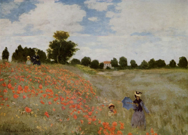 Monet, Klaprozenveld bij Argenteuil
