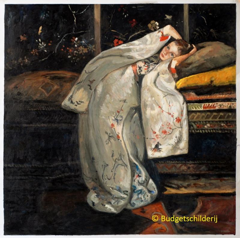 Breitner, Meisje in witte kimono (Geesje Kwak)