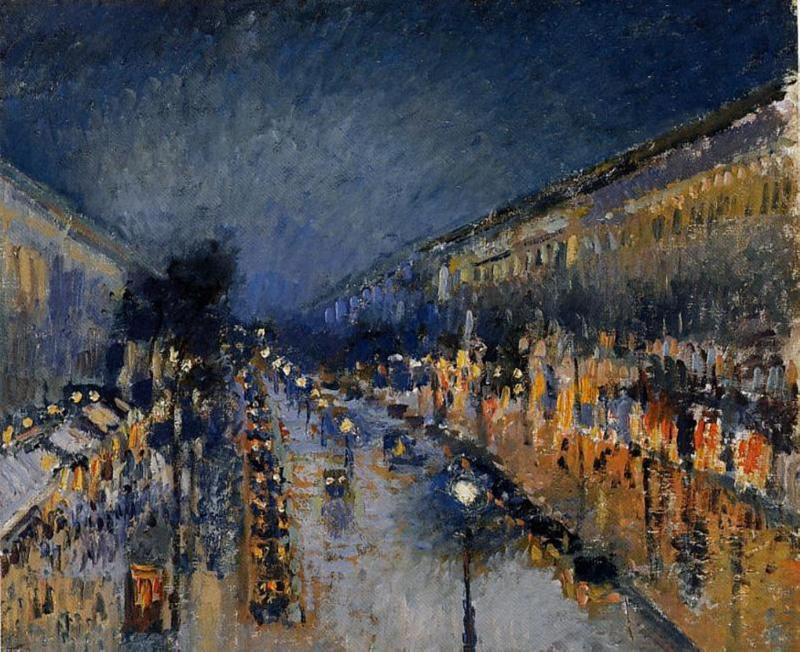 Pissarro, Montmartre bij avond