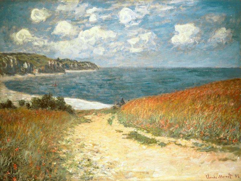 Monet, Weg in Bles a Pourville