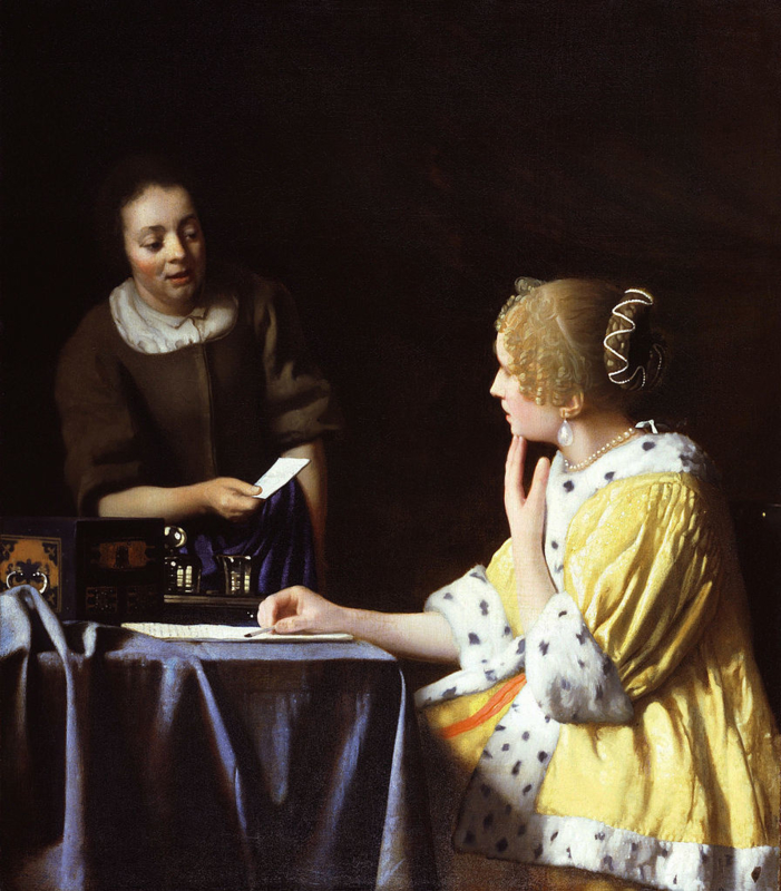 Vermeer, Dame en dienstbode